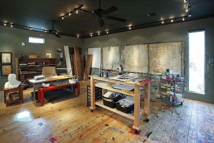 John Ross Palmer's private art studio.