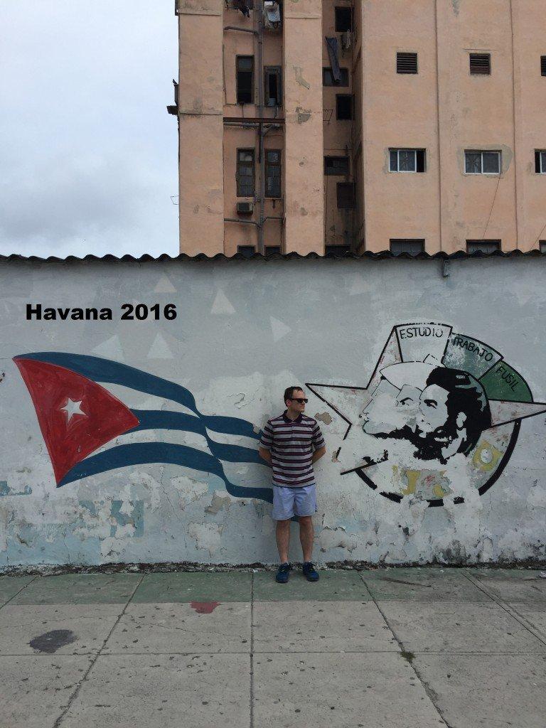 John Ross Palmer in Havana, Cuba.
