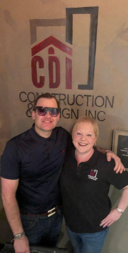 Artist John Ross Palmer with Builder Terri Robinson