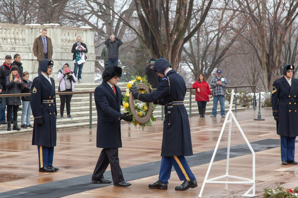 Palmer Wreath Ceremony