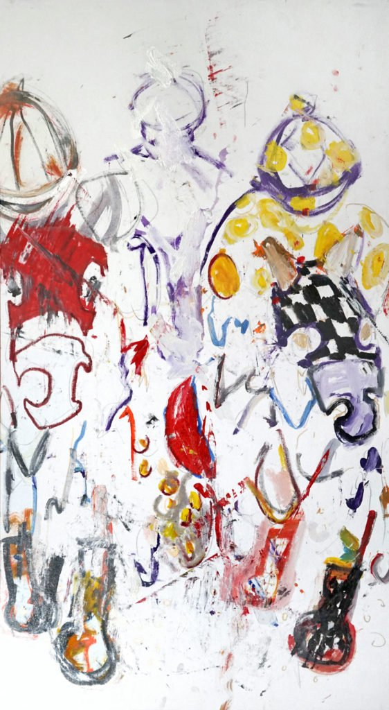 John Ross Palmer Equestrian Series Painting Jockies with Horses