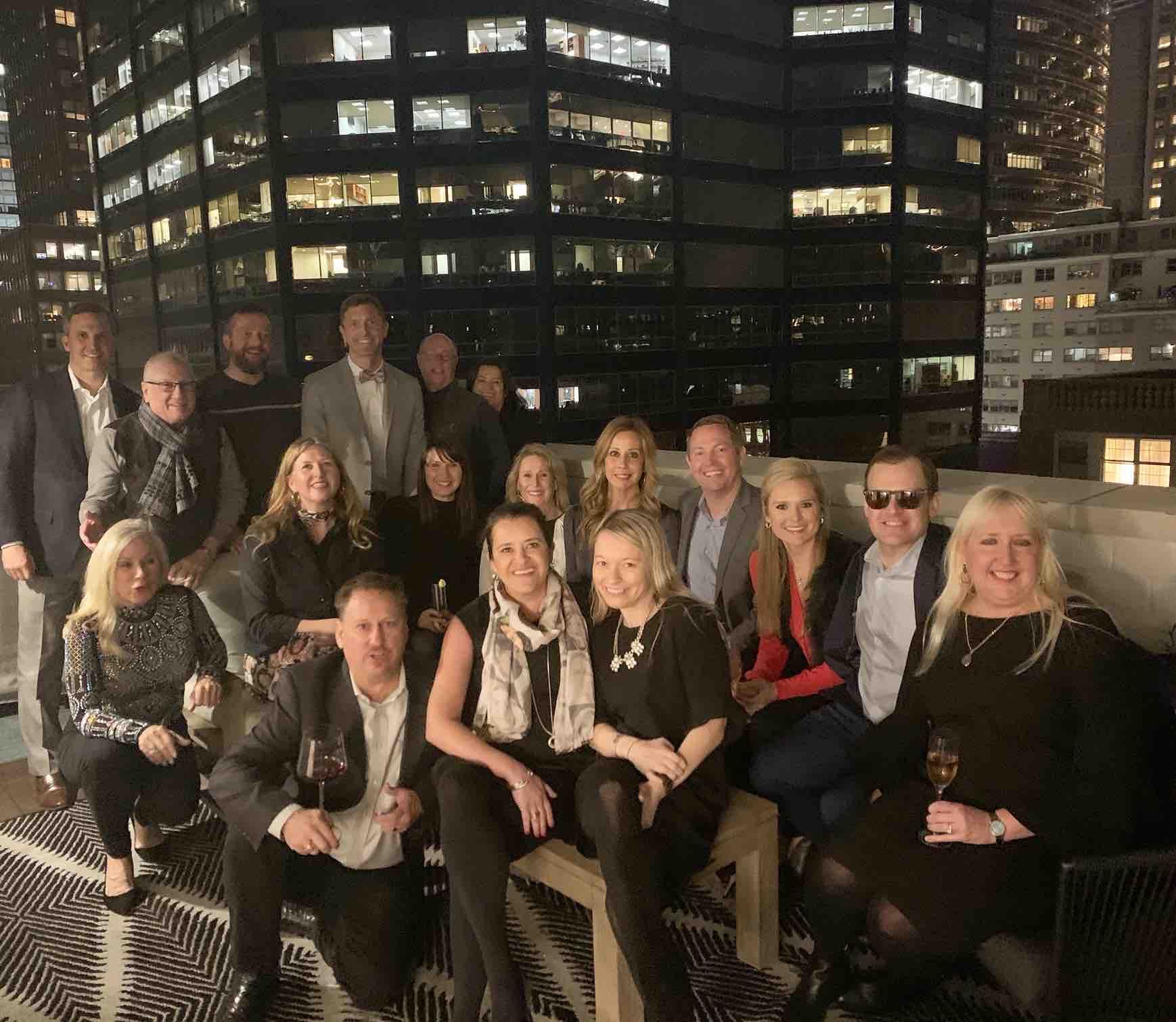John Ross Palmer Birthday Club Group Photo in NYC