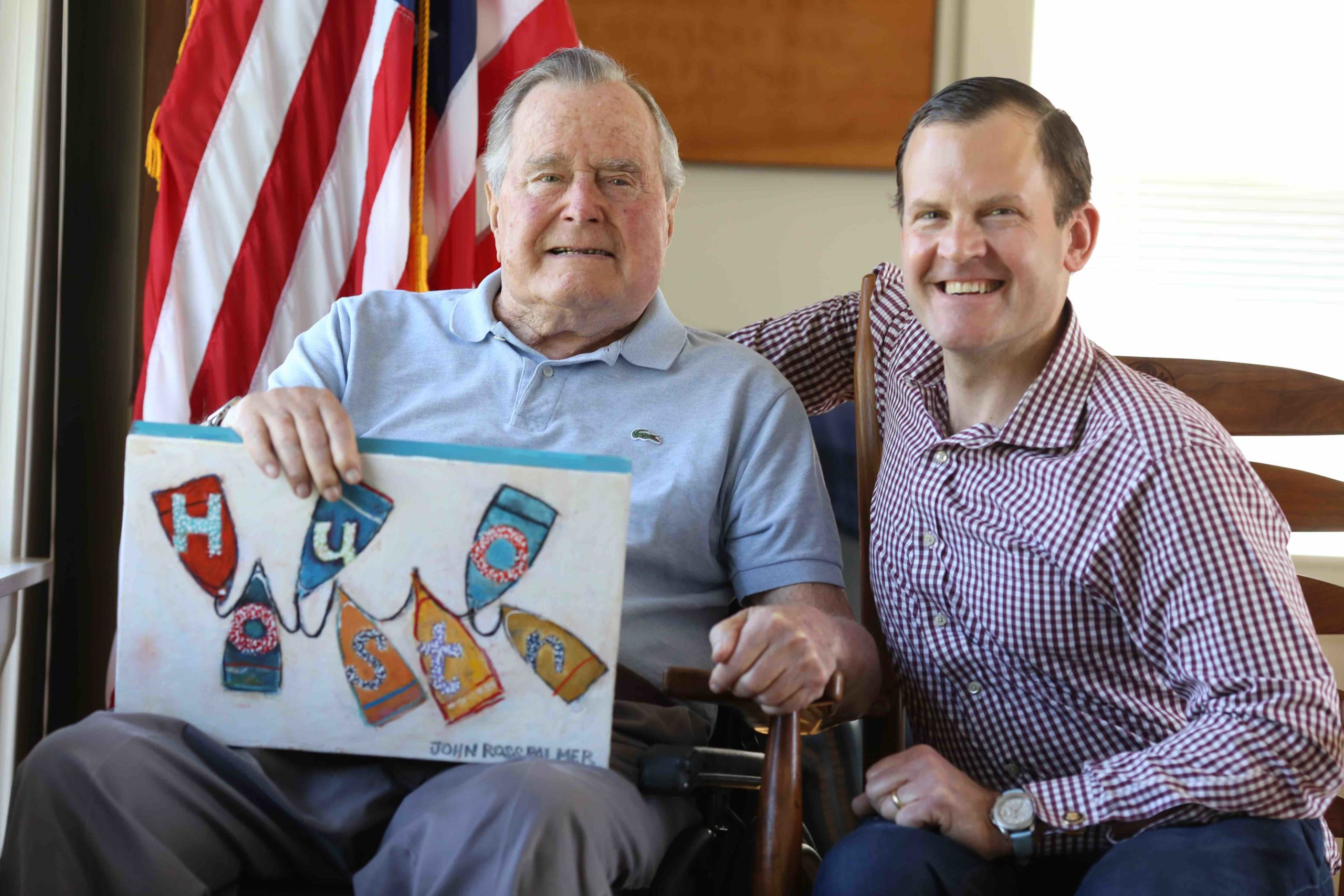 President George H W Bush with John Ross Palmer