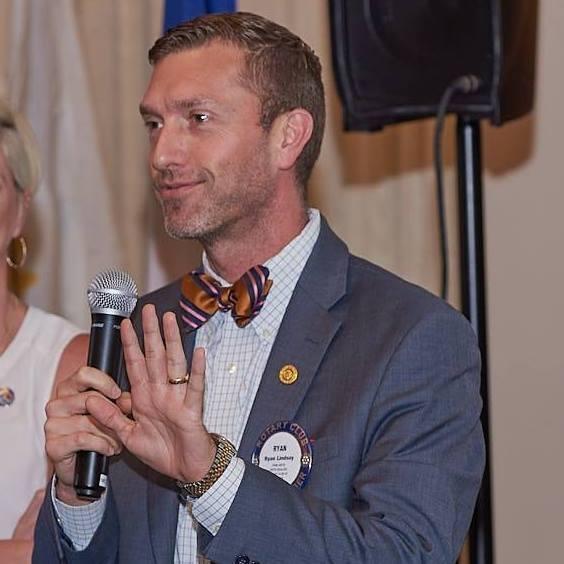 Ryan Lindsay at Rotary Club