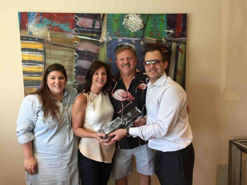 John Ross Palmer with Vallone Award Winner 2015 Steen Family